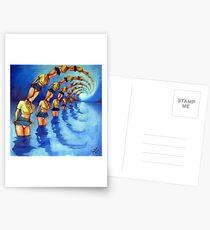 Bathers Singularity Postcards