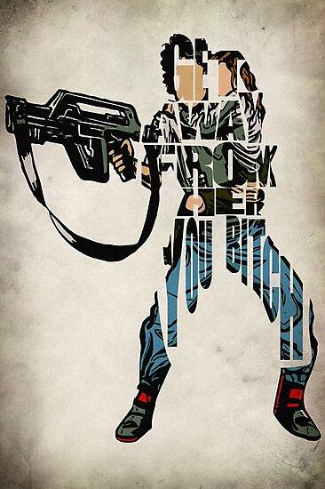 Ellen Ripley by geekmywall