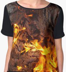 Flame Women's Chiffon Top
