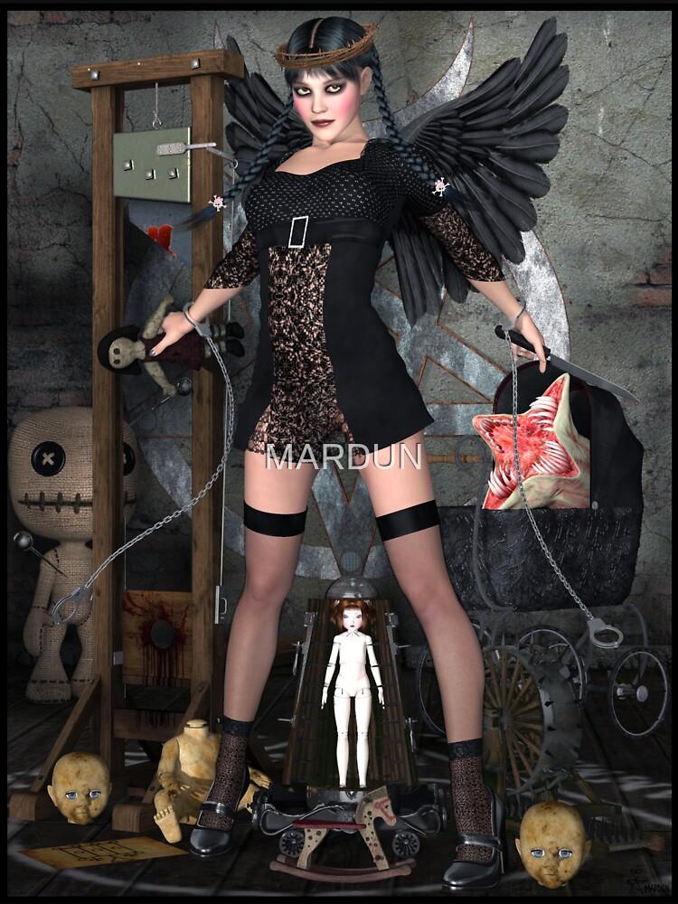 Wednesday Addams Fallen Witch Angel by MARDUN