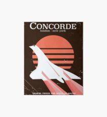 Concorde Vintage 70's flight poster Art Board