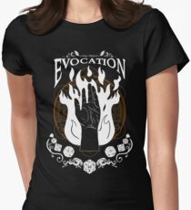 Evocation - D&D Magic School Series : White Women's Fitted T-Shirt