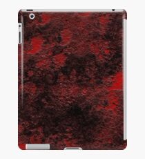 Red Black Gritty Texture iPad Case/Skin