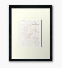 USGS TOPO Map Colorado CO Omar 451551 1951 24000 Framed Print