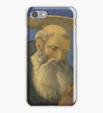 Domenico Veneziano - Head Of A Tonsured, Bearded Saint iPhone Case/Skin