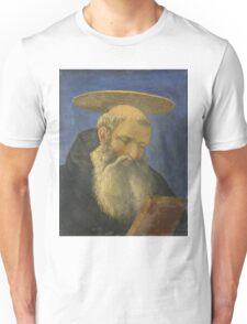 Domenico Veneziano - Head Of A Tonsured, Bearded Saint Unisex T-Shirt