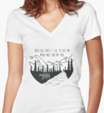 Into the Forest Women's Fitted V-Neck T-Shirt