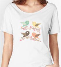 Four birds Women's Relaxed Fit T-Shirt