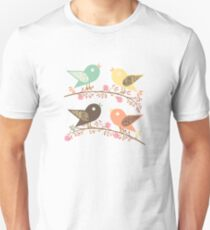 Four birds Unisex T-Shirt