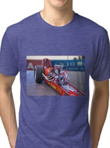 Vintage 'High Compression' Flat Head Dragster Tri-blend T-Shirt