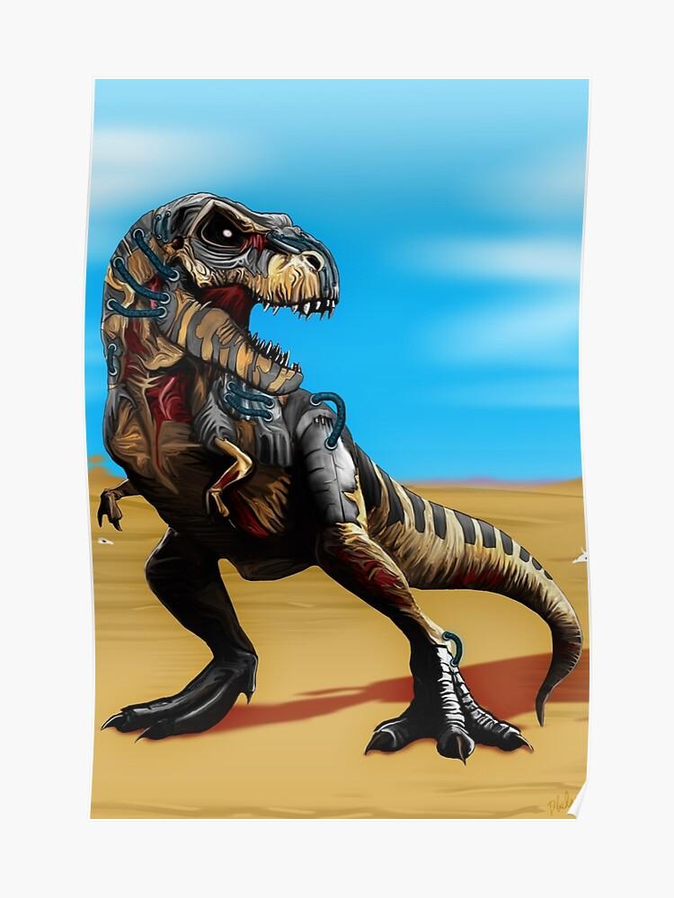 Cyborg Zombie T-Rex | Poster