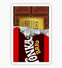 willy wonka chocolate bar cover for imagination Sticker