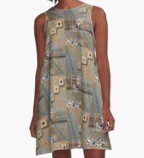 de coded A-Line Dress