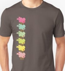 Colorful Sweet Pastel Stacked Cupcakes with Butterflies Unisex T-Shirt