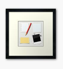 Pencil and paper Framed Print