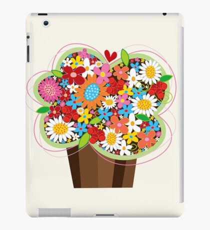 Spring Flowers Whimsical Cupcake iPad Case/Skin
