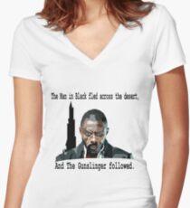 The Gunslinger followed.  Women's Fitted V-Neck T-Shirt