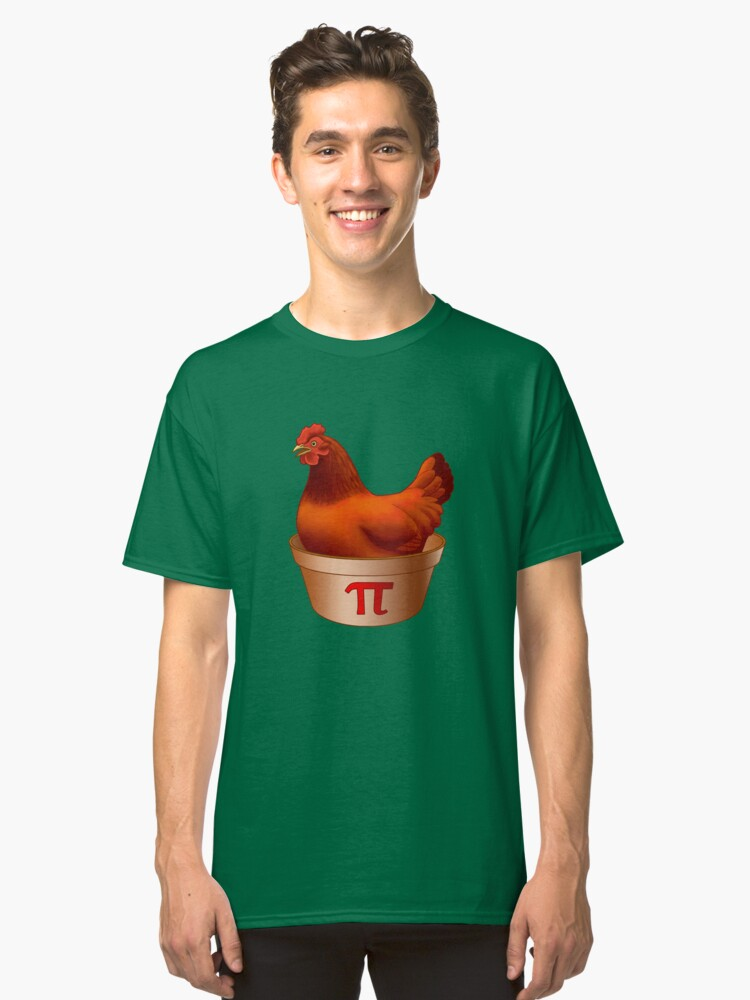22428667 Funny Red Hen Chicken Pot (pi) Pie