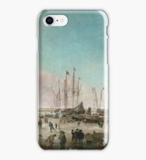Dubbels, Hendrick Jacobsz - The Port Of Amsterdam In Winter iPhone Case/Skin