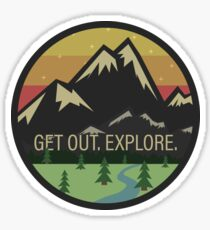 Get Out. Explore. Sticker