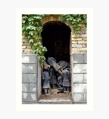 Terracotta Graveyard Art Print
