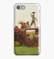 Eastman Johnson - The Old Stagecoach iPhone Case/Skin