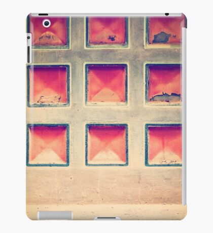 Squares in wall iPad Case/Skin