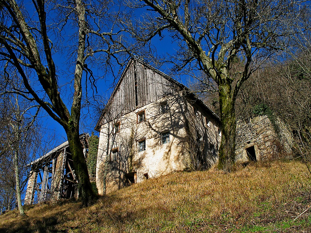 Empty Farmhouse In Julian Alps by Rok Cuder