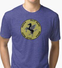 OUT RUN - STERING WHEEL CAP ARCADE Tri-blend T-Shirt