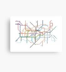 London Underground Pixel Map Canvas Print