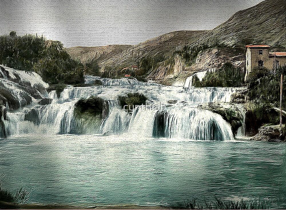 falling water by cynthiab