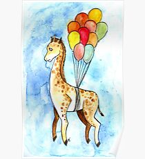 A really confused Giraffe Poster