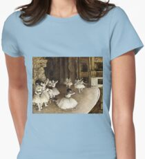 Edgar Degas - Ballet Rehearsal On Stage (1874) Womens Fitted T-Shirt