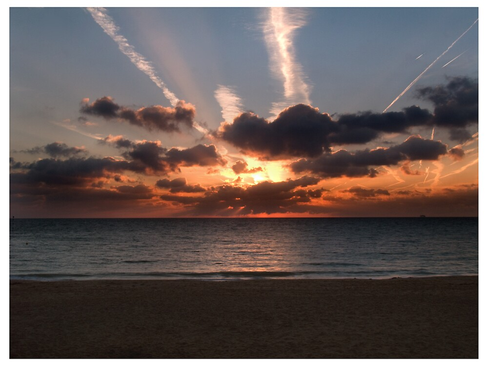 Sunrise at sea by Paul Tremble