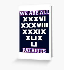 We are All Patriots Greeting Card