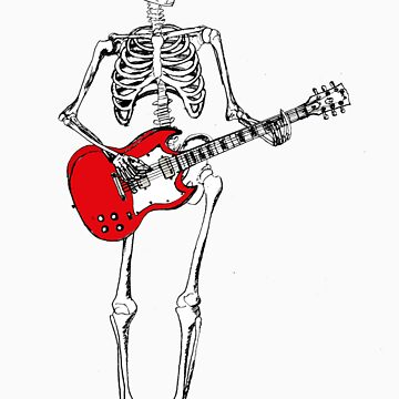 theres a skeleton with my guitar by benjb