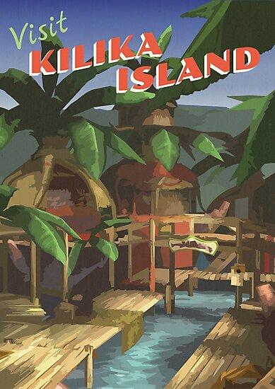 Kilika Island [FFX] - Vintage Travel Poster by sggurcsyllek