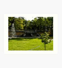 The Retaining Wall of Massandra Palace3 Art Print