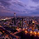 Melbourne at Sunset by AustralianImagery