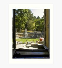 Looking out a rea window of the palace Art Print