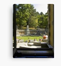 Looking out a rea window of the palace Canvas Print