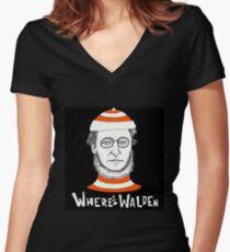Where's Walden Women's Fitted V-Neck T-Shirt