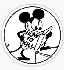 how to kill cartoon mouse Sticker