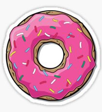 Pink Strawberry Frosted Donut with Sprinkles Sticker