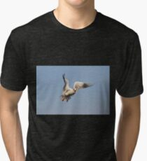 seagull fly on lake Tri-blend T-Shirt