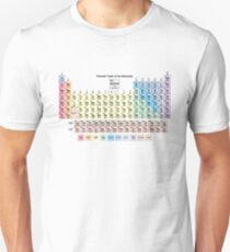 Periodic Table with all 118 Element Names T-Shirt