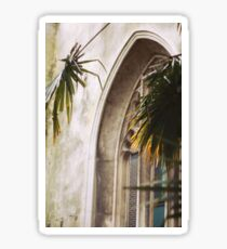 Church and Palms - Helios Photography Sticker