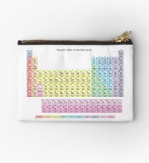 Muted Colors Periodic Table Studio Pouch
