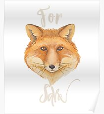 For Fox Sake Funny Play on Words Poster