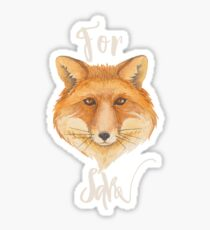 For Fox Sake Funny Play on Words Sticker